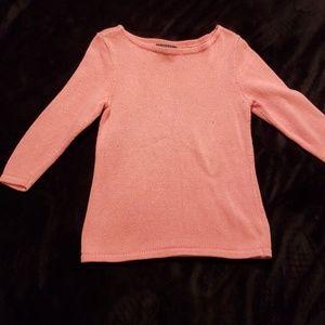 Orange Ralph Lauren 3/4 Sleeve Sweater